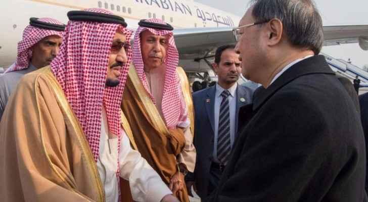 الرئيس الصيني يستقبل الملك سلمان بن عبد العزيز