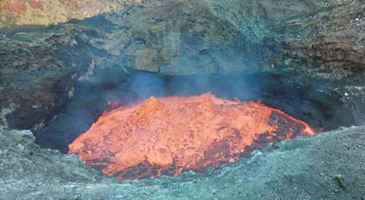 صورة داخل فوهة البركان