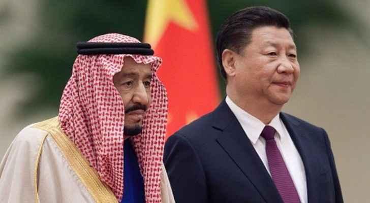 الملك السعودي لدى استقباله من رئيس الصين شي جين بينغ