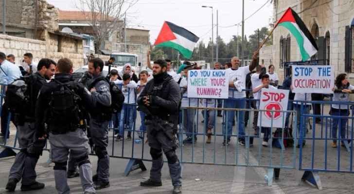 احتجاجات ضد الماراثون في القدس المحتلة