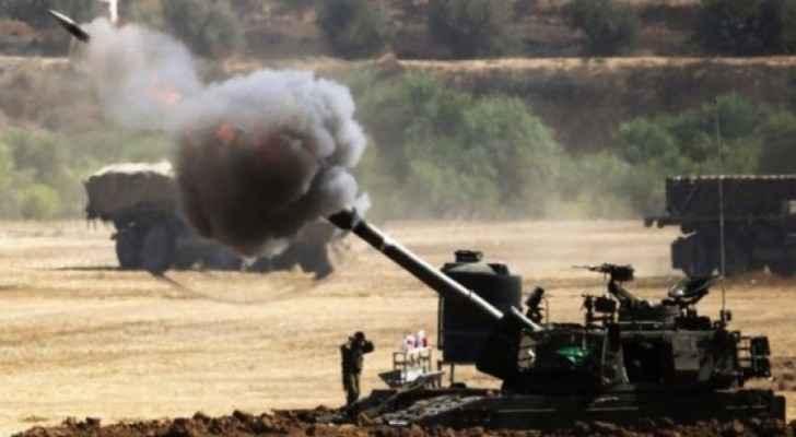 مدفعيات الاحتلال الاسرائيلي