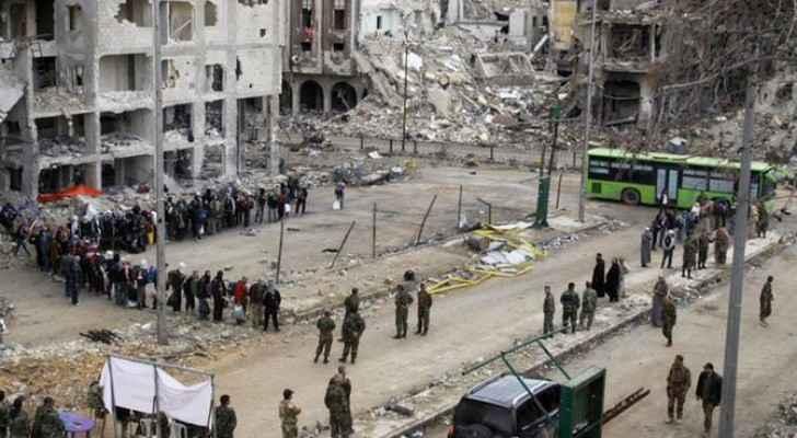 عملية إجلاء سابقة من مدينة حمص ارشيفية
