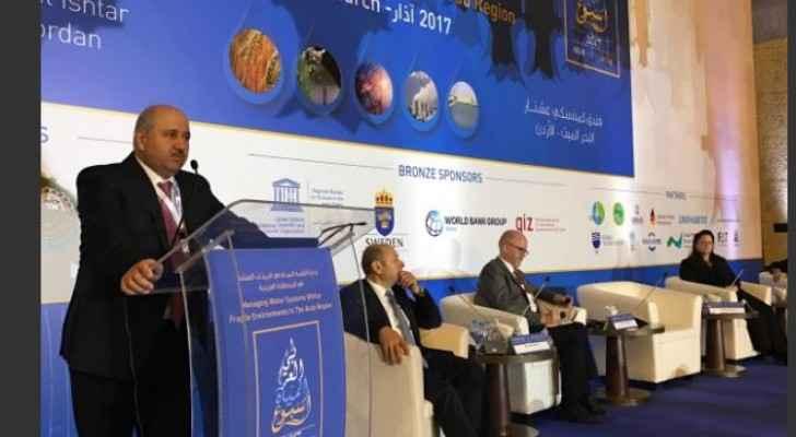 صورة خلال افتتاح أعمال مؤتمر واسبوع المياه العربي