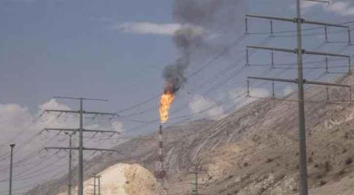 شعلة غاز في حقل بارس الجنوبي للغاز في إيران - رويترز