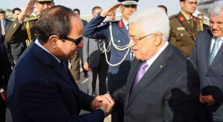 الرئيس الفلسطيني والرئيس المصري