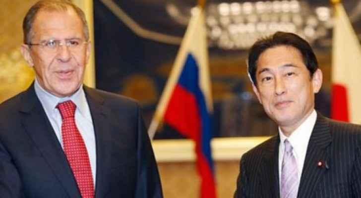 وزير الخارجية الياباني ونظيره الروسي سيرغي لافروف