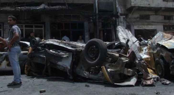 أرشيفية لآثار هجوم سابق بسيارة مفخخة في بغداد