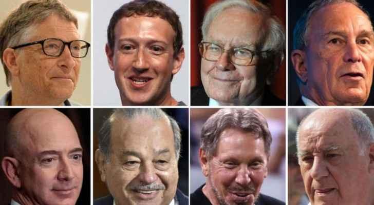8 أثرياء في قائمة أكثر رجال العالم ثراءً
