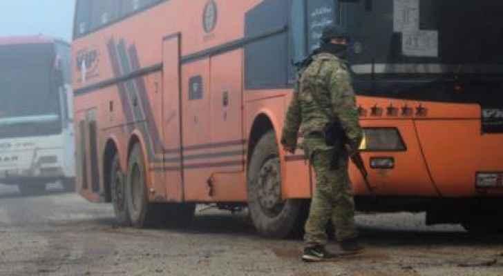 التفجير استهدف حافلات خلال عملية الإجلاء