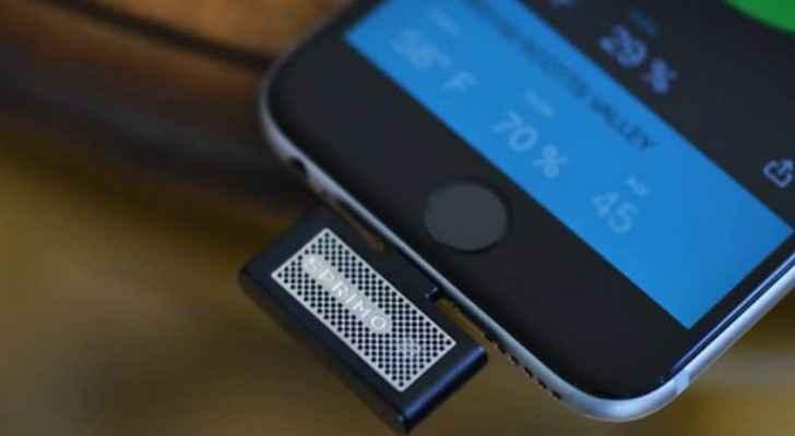 جهاز صغير لمراقبة جودة الهواء عبر هاتفك الذكي