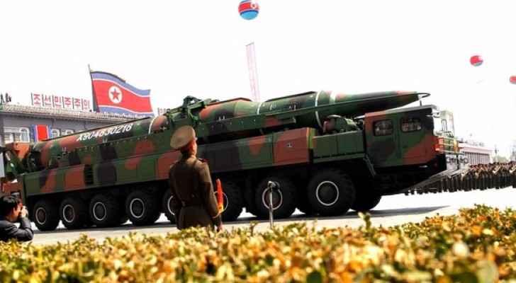 ارشيفية لاستعراض عسكري كوري شمالي