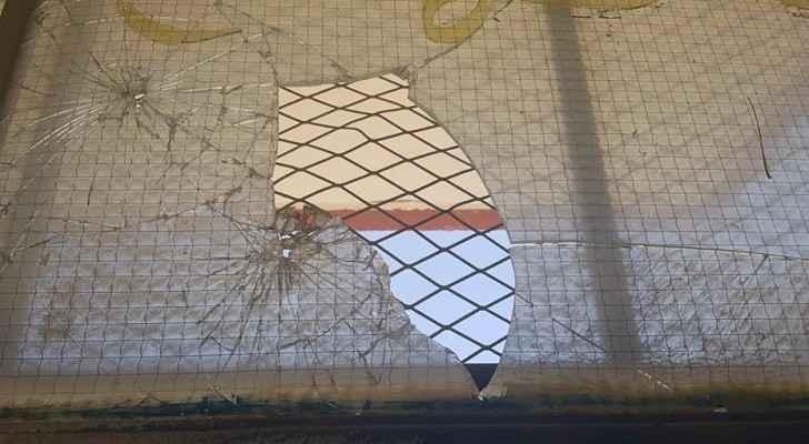 جانب من مدرسة المرقب التي تم الاعتداء عليها