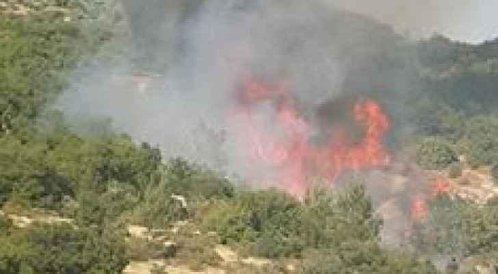 الصور من مكان الحريق