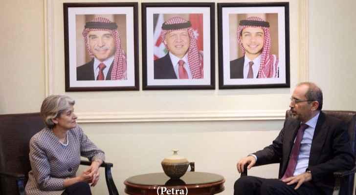 الصفدي يلتقي مسؤولين دوليين