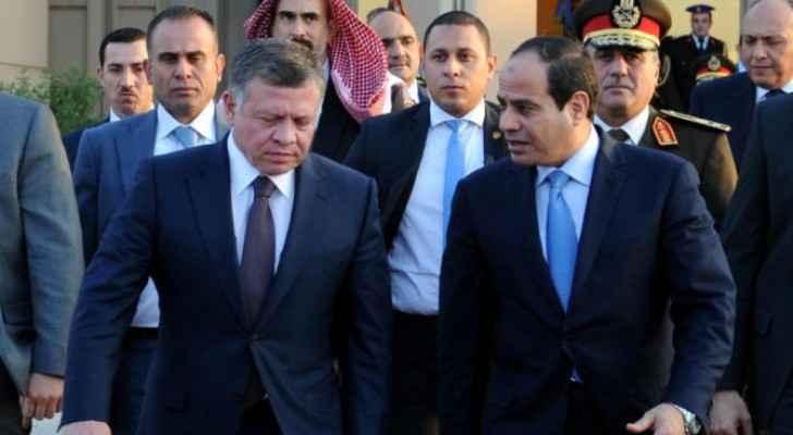 جلالة الملك والرئيس المصري عبدالفتاح السيسي - ارشيفية