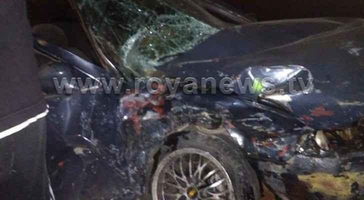 وفاة واصابات بحادث سير على طريق اربد عجلون