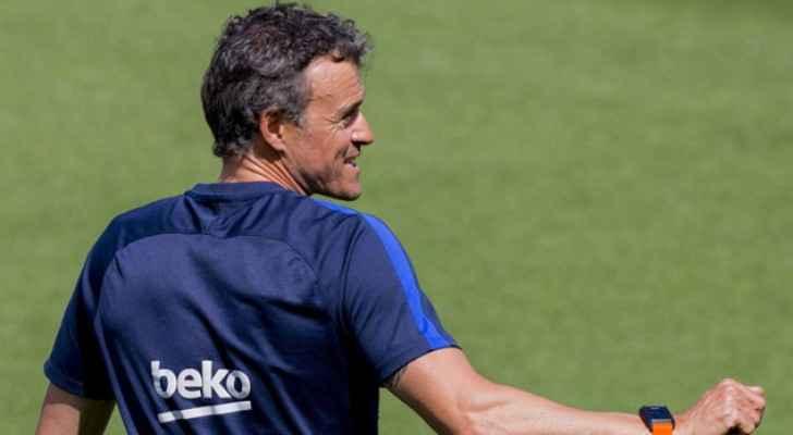 مدرب برشلونة لويس إنريكي