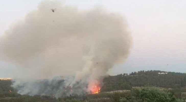 طائرات تساعد باخماد الحريق في الكمالية