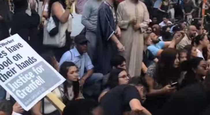جزء من الاحتجاجات