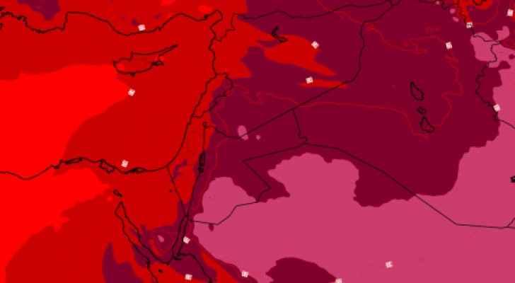 كُتلة هوائية حارّة تؤثر على المملكة الاثنين والثلاثاء