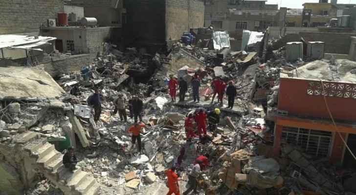 من اثار الحرب في الموصل - ارشيفية