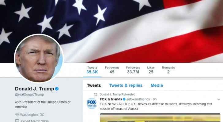دعوى قضائية ضد ترمب لحظر الأشخاص على تويتر
