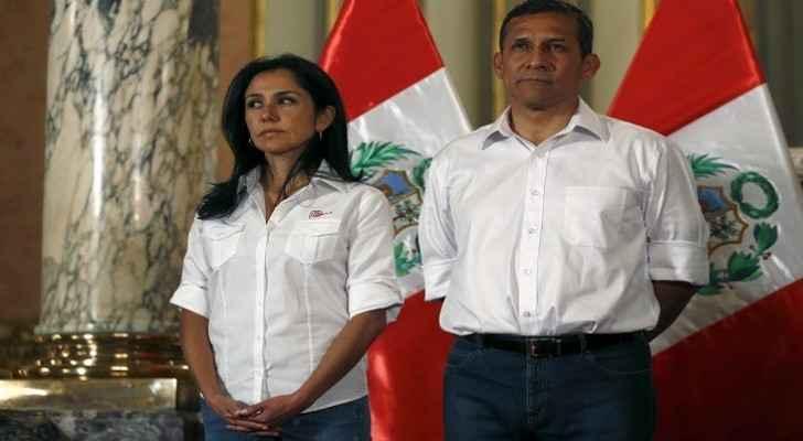 رئيس بيرو السابق، أويانتا هومالا، وعقيلته نادين هيريديا