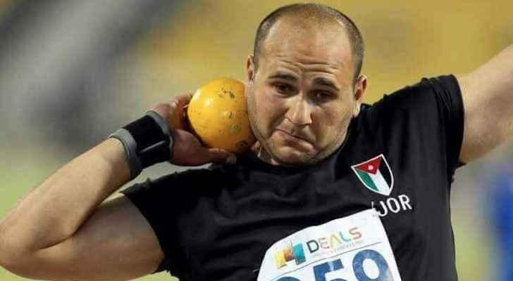 """""""المومني"""" يحرز برونزية دفع الجلة في البطولة العربية لألعاب القوى"""