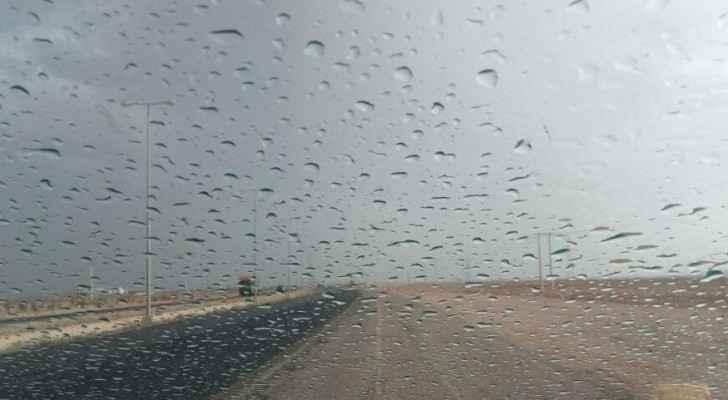 أمطار غزيرة في صحراء المملكة الجنوبية