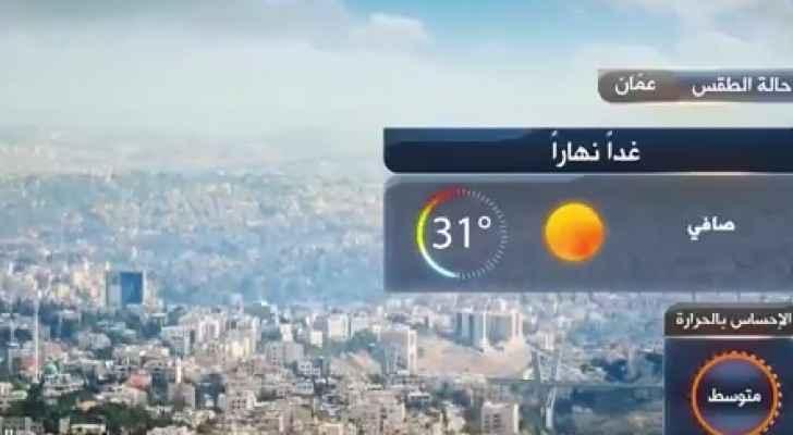 رتفاع قليل على درجات الحرارة السبت