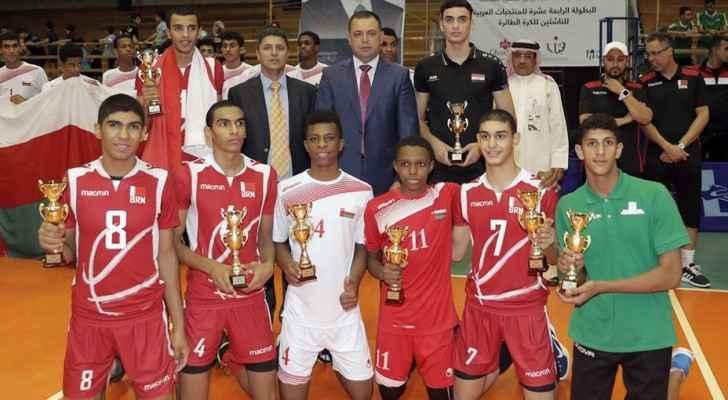 ناشئو البحرين يتوّجون بلقب البطولة العربية للكرة الطائرة