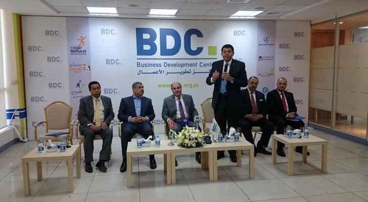 زيارة الملقي والغزاوي لمركز تطوير الأعمال BDC للاطلاع على برامج المركز
