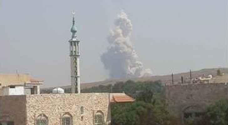 صور لأعمدة دخان تصاعدت عقب الانفجار
