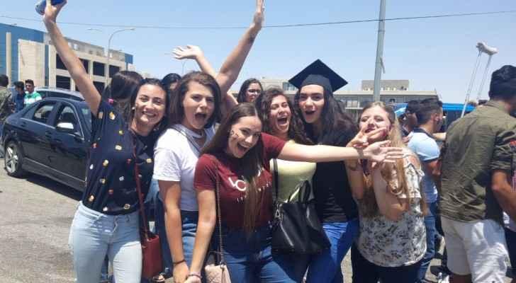 احتفال طلبة التوجيهي بالعاصمة عمان
