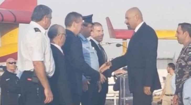 السفير الأردني في تل أبيب وليد عبيدات وطاقم الدفاع المدني الأردني يوم التكريم