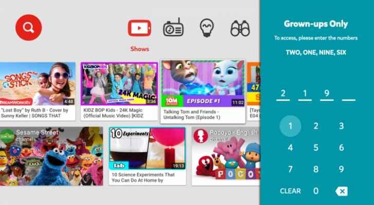 يوتيوب للأطفال Youtube Kids متوفّر الآن لأجهزة التلفاز العاملة بنظام أندرويد