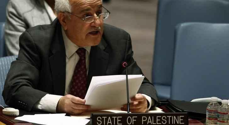 المندوب الدائم لدولة فلسطين لدى الأمم المتحدة السفير رياض منصور