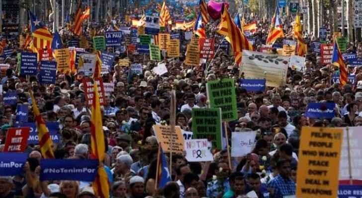 مسيرة في برشلونة