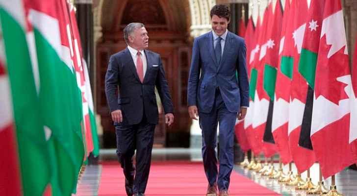من لقاء الملك برئيس الوزراء الكندي