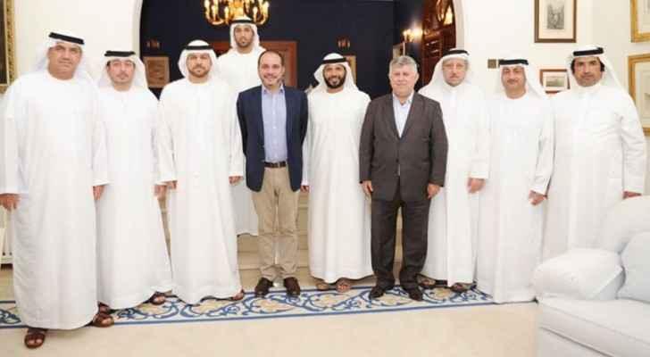 الأمير علي يستقبل وفدي اتحادي العراق والامارات لكرة القدم