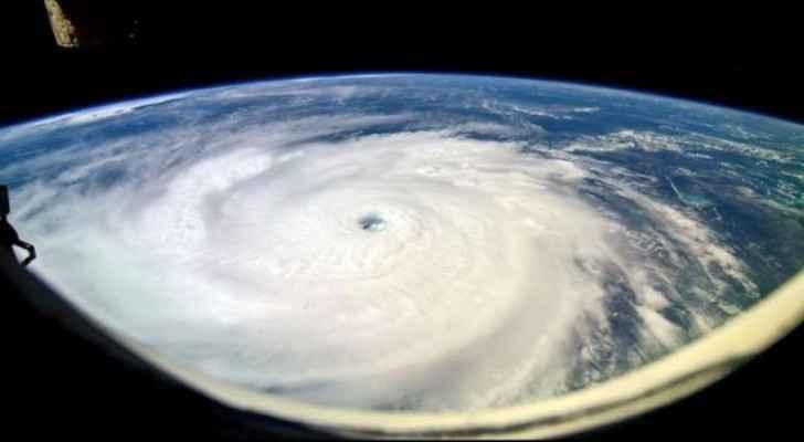 صورة للاعصار إيرما في بحر الكاريبي