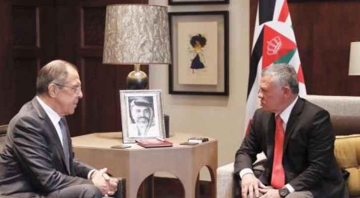 الملك يستقبل وزير الخارجية الروسي سيرجي لافروف