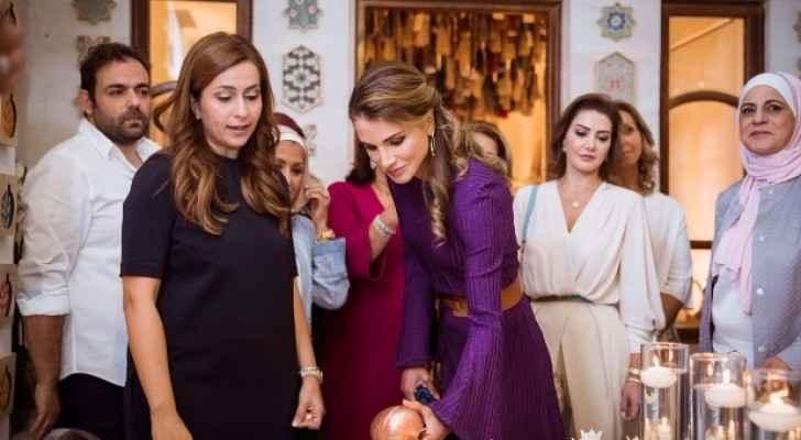 الملكة رانيا تفتتح المعرض السنوي لمؤسسة نهر الاردن