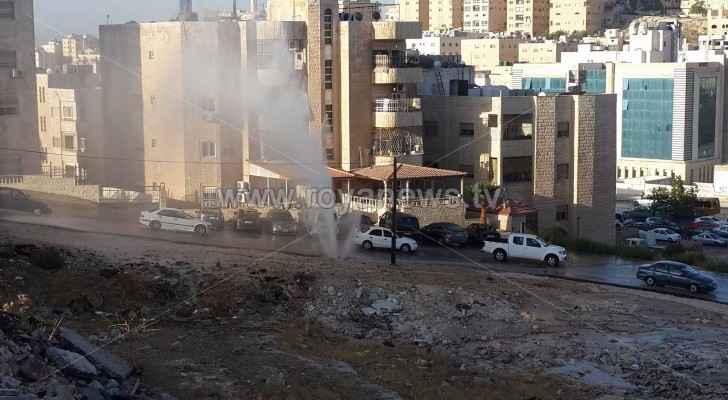 خط المياه المكسور بضاحية الأمير حسن