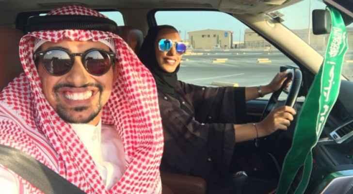 الشاب السعودي فيصل بادغيش وزوجته