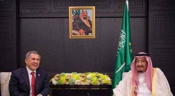 الملك سلمان ورئيس تتارستان