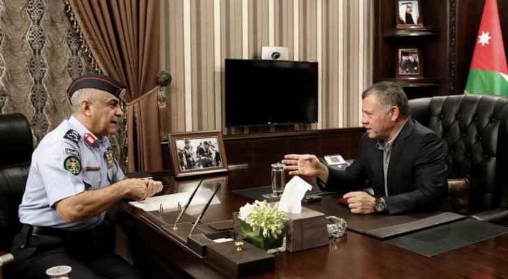 جانب من زيارة الملك لمديرية الأمن العام