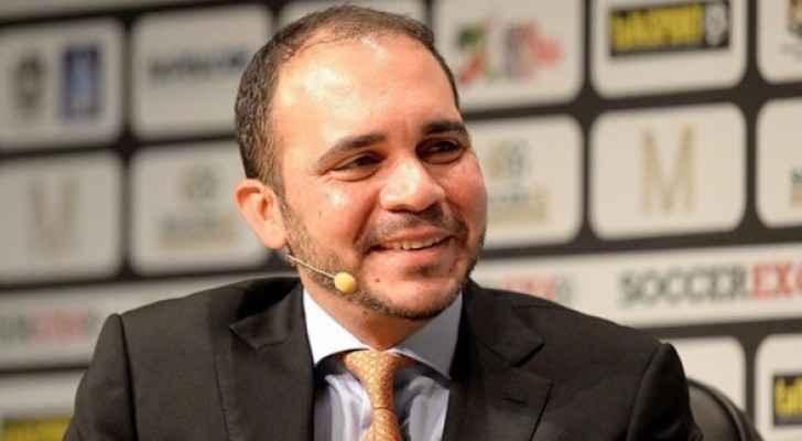 رئيس الاتحاد الأردني لكرة القدم، الأمير علي بن الحسين
