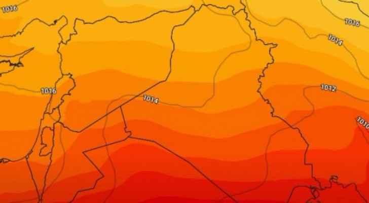 تموضع مرتفع جوي فوق أجواء المملكة حتى بداية الاسبوع الأخير من الشهر الحالي