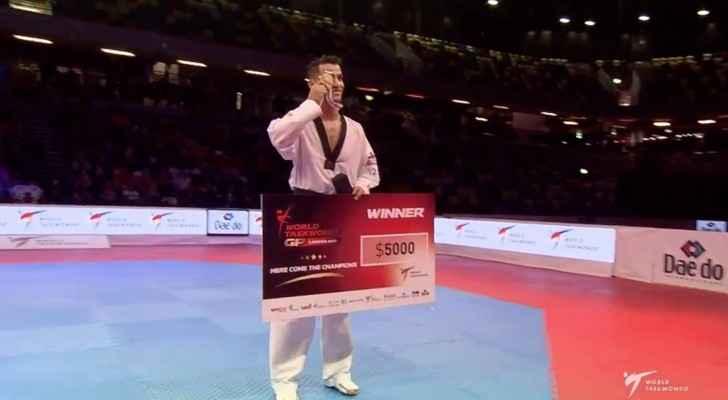 ابو غوش يحقق الميدالية الذهبية في سلسلة الجائزة الكبرى للتايكواندو
